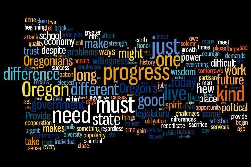John Kitzhaber 1995 Inaugural Speech Word Cloud John Kitzhaber Inauguration Address: Watch Live, Commentary to Follow