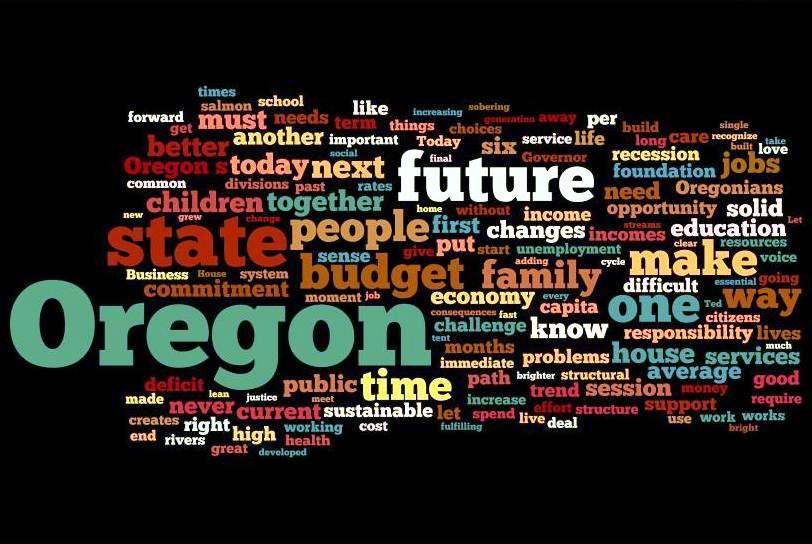 John Kitzhaber 2011 Inaugural Speech Word Cloud John Kitzhaber Inauguration Address: Watch Live, Commentary to Follow