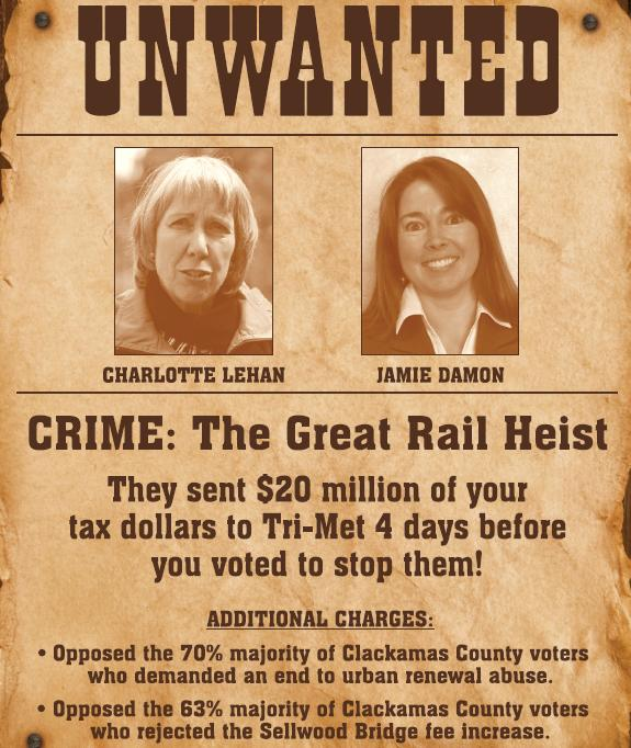 unwanted Unwanted poster ad in Clackamas County Commissioner race