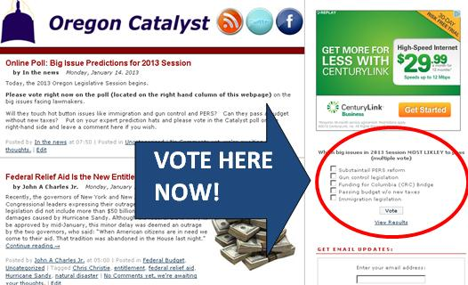 catalyst poll vote Online Poll: Big Issue Predictions for 2013 Session