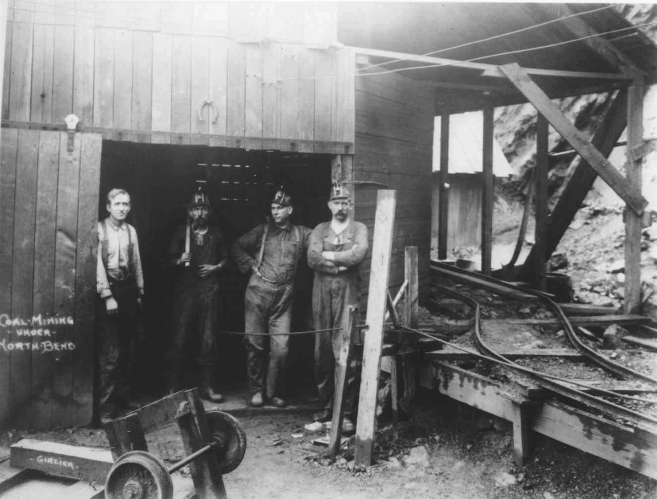 Old-time coal mining in Coos County