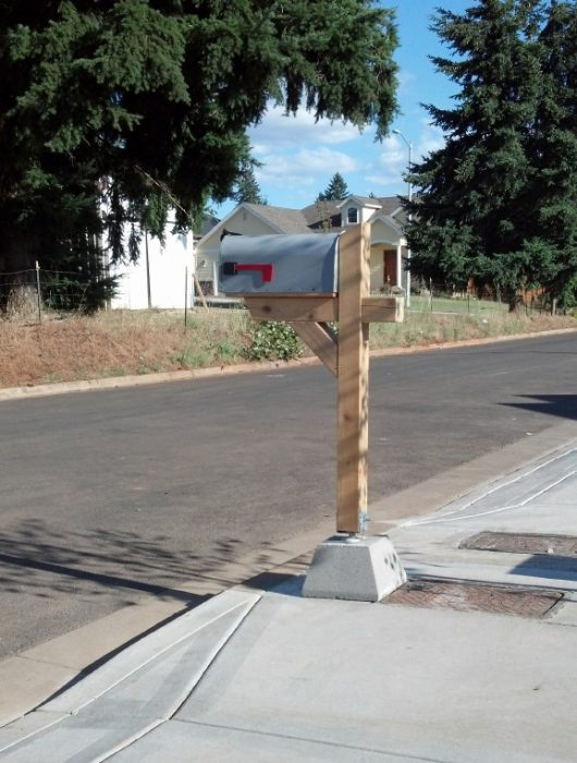 Our lonely, but optimistic mail box