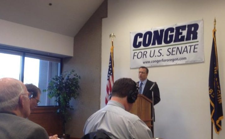 Rep. Jason Conger announces candidacy for US Senate (photo by Patrick Sheehan)