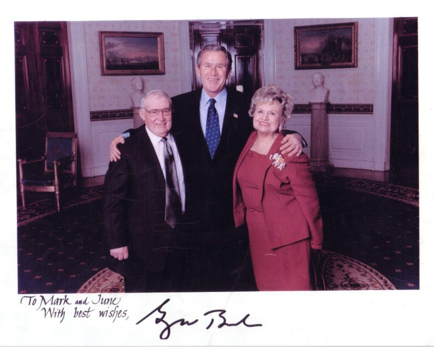 June Hartley with President George W Bush_2