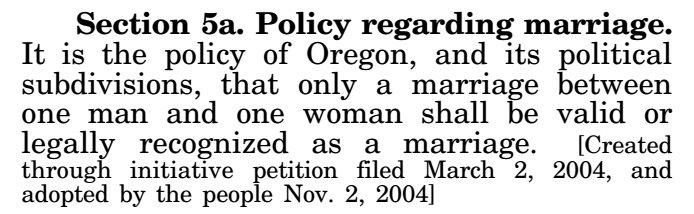 Oregon Constitution - Article XV, Section 5a