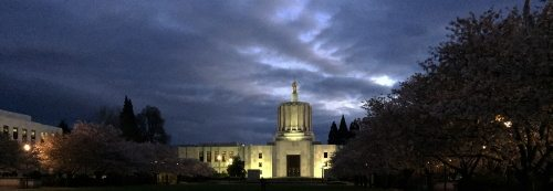Oregon Capitol at night - Ides of March 2015