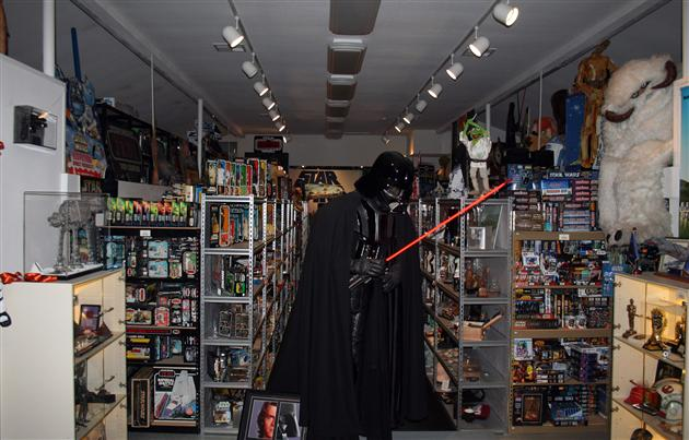 Sheehan (in costume) at the height of his Star Wars collection