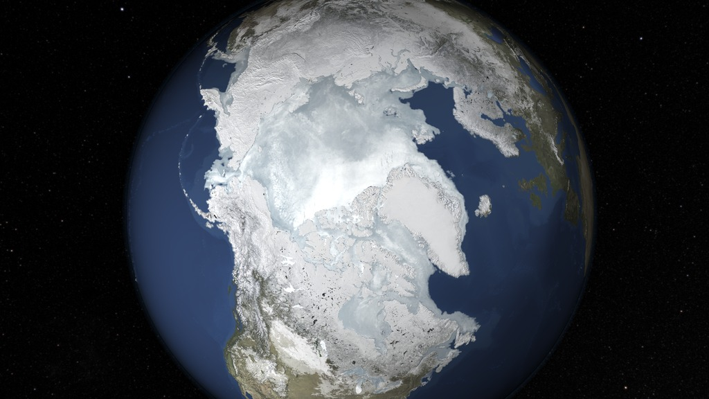 NASA photo of Arctic Sea Ice Maximum Annual Extent from February 2015