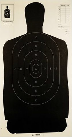 NRA B27 silhouette target required in SB796