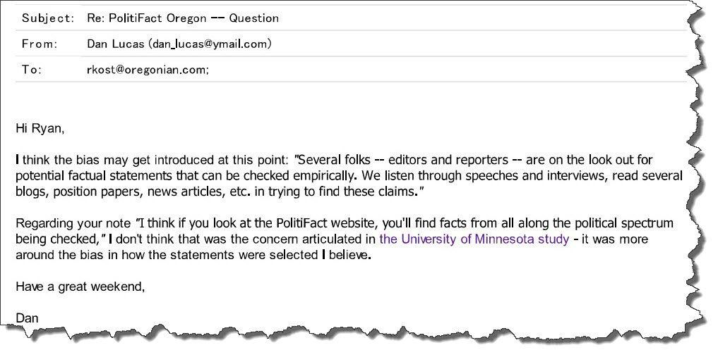 PolitiFact email 4