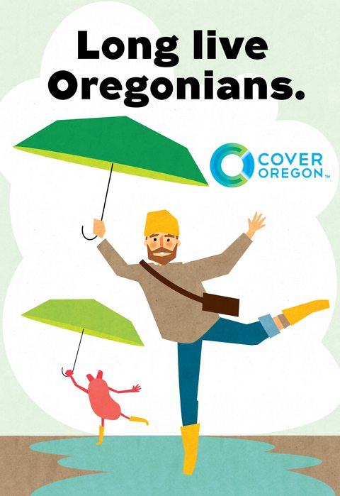 "Cover Oregon - ""bus shelter man"""