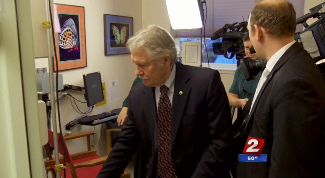 Gov. Kitzhaber's spokesman cuts the KATU interview short