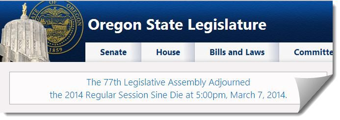 http://www.oregonlegislature.gov/ (3/7/2014)