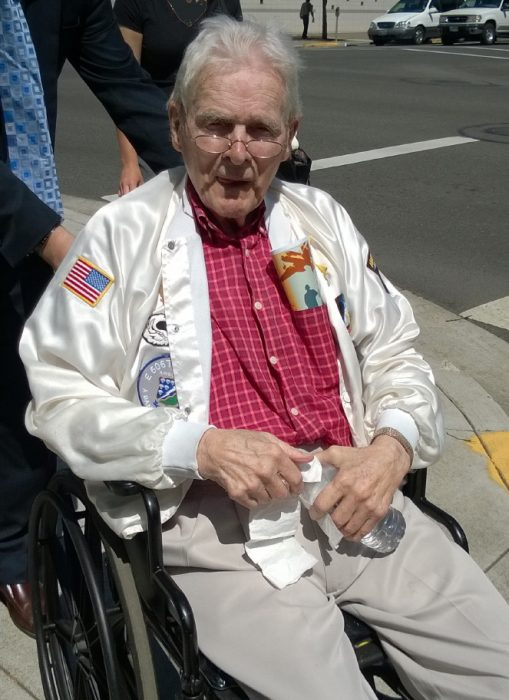 Don Malarkey on June 6, 2014 - 70th anniv of D-Day - at dedication of Oregon WW II memorial