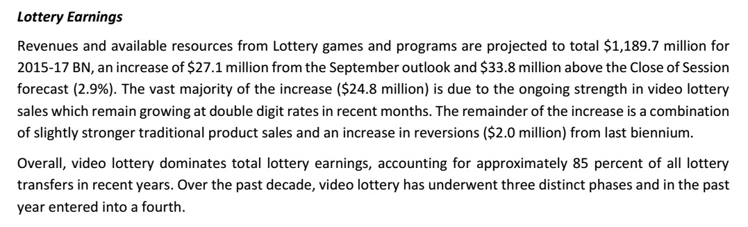 Dec 2015 rev forecast_Lottery Earnings