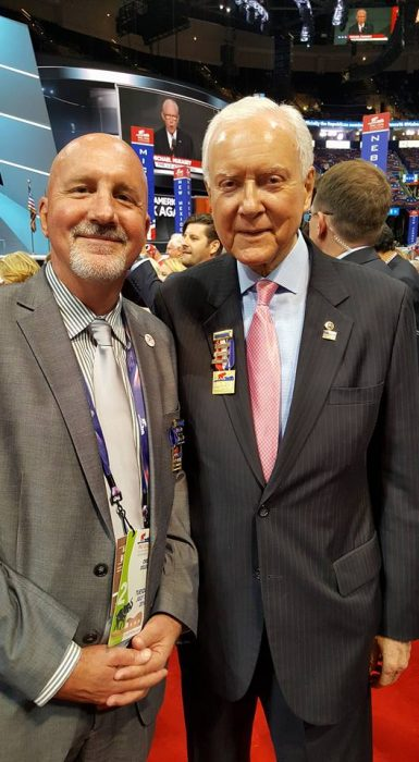 RNC 2016_Rep Bill Post with Sen Orrin Hatch