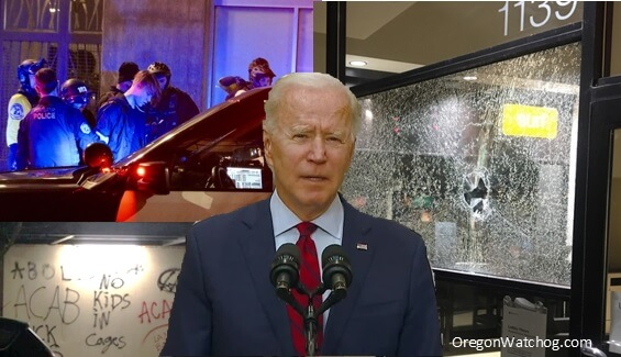 After Biden removes Portland 'Anarchy' label, hundreds sabotage city